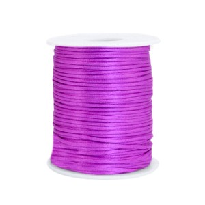 Satijn koord rond 1.5mm purple (per meter)