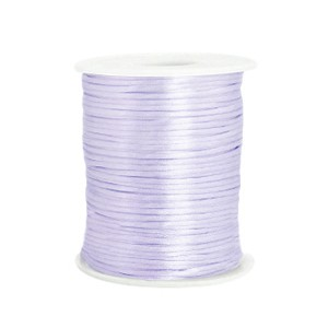 Satijn koord rond 1.5mm soft lavender purple (per meter)