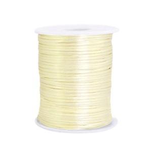 Satijn koord rond 1.5mm tender yellow (per meter)