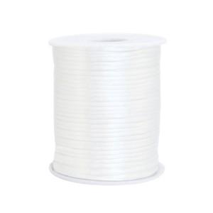 Satijn koord rond 1.5mm white (per meter)
