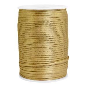 Satijn koord rond 2.5mm antique gold (per meter)