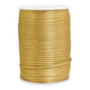 Satijn koord rond 2.5mm gold (per meter)