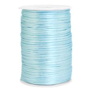 Satijn koord rond 2.5mm ice blue (per meter)