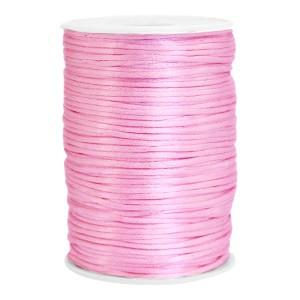 Satijn koord rond 2.5mm light pink (per meter)