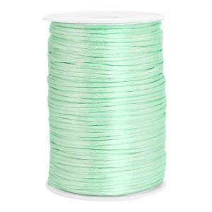 Satijn koord rond 2.5mm neo mint green (per meter)