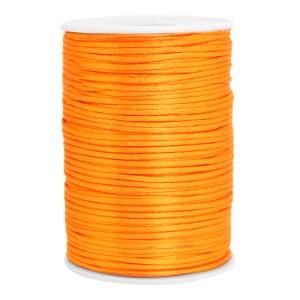 Satijn koord rond 2.5mm orange (per meter)