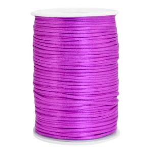 Satijn koord rond 2.5mm purple (per meter)