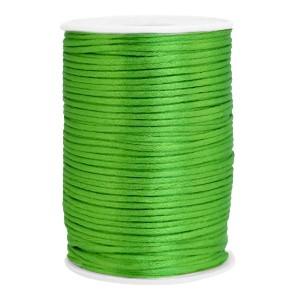 Satijn koord rond 2.5mm spring green (per meter)