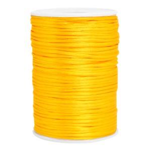 Satijn koord rond 2.5mm sunflower yellow (per meter)