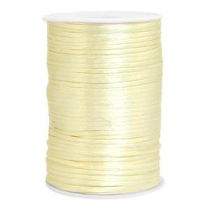 Satijn koord rond 2.5mm tender yellow (per meter)
