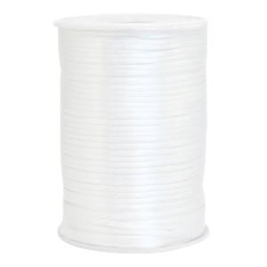 Satijn koord rond 2.5mm white (per meter)