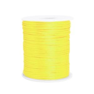 Satijnkoord rond 1.5mm yellow (per meter)