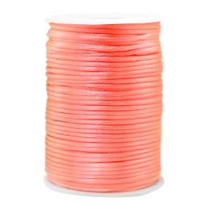 Satijnkoord rond 2.5mm peachy pink (per meter)