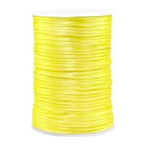 Satijnkoord rond 2.5mm yellow (per meter)