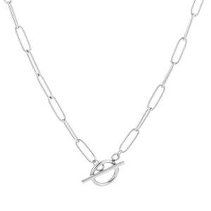 Schakelketting met kapittelslot zilver stainless steel