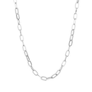 Schakelketting ovaal zilver stainless steel