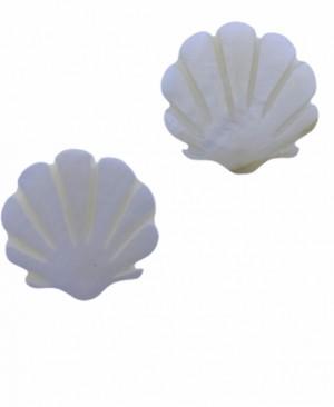 Schelp kraal scallop creme white 15mm