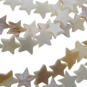 Schelp kraal ster creme white 10mm