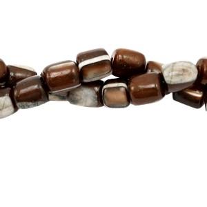 Schelp kraal tube brown 4x3.5mm