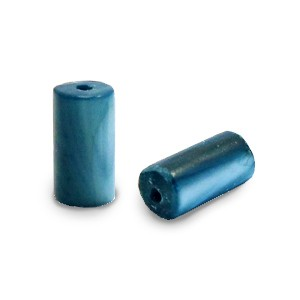 Schelpkraal tube avond blauw 8x4mm