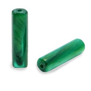 Schelpkraal tube eden groen 14x4mm