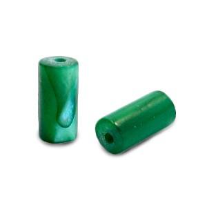 Schelpkraal tube eden groen 8x4mm