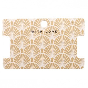 Sieraden kaartjes 'with love' Art Deco Brown