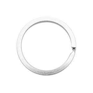 Sleutelhangers ring 25mm antiek zilver
