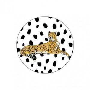 Sluitsticker 40mm luipaard per 5 stuks