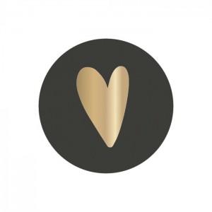 Sluitstickers 35mm heart dark (per 5 stuks)