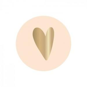 Sluitstickers 35mm heart ivory (per 5 stuks)