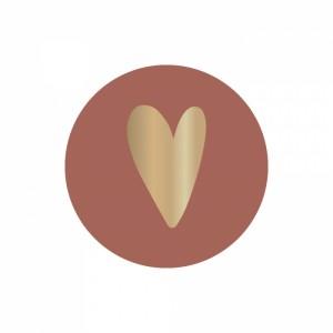 Sluitstickers 35mm heart warm red (per 5 stuks)