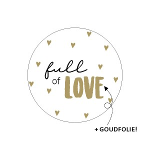 Sluitstickers 40mm 'full of love' (per 5 stuks)