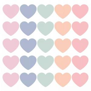 Sluitstickers 50mm SOW & GROW hearts pastel (per 5 stuks)
