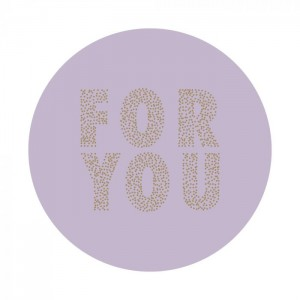 Sluitstickers 55mm 'For you' lila (per 5 stuks)