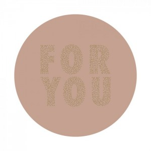 Sluitstickers 55mm 'For you' pink (per 5 stuks)