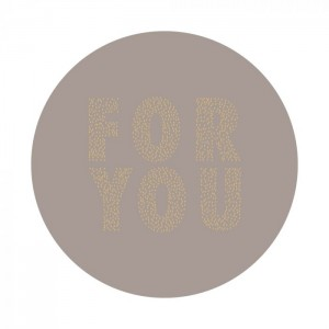 Sluitstickers 55mm 'For you' warm grey (per 5 stuks)