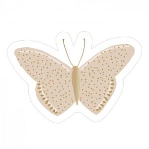 Sluitstickers 55x38mm butterfly beige (per 5 stuks)