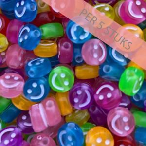 smiley-kraal-rond-10mm-mix-per-5-stuks