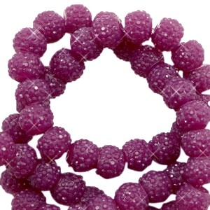 Sparkling beads butterfly purple 6mm