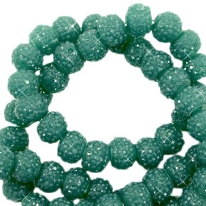 Sparkling beads vintage green 6mm
