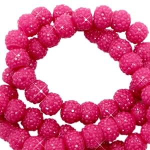 Sparkling beads yarrow pink 6mm