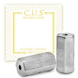 Stainless steel C.U.S® message beads dream zilver 15x8mm per stuk