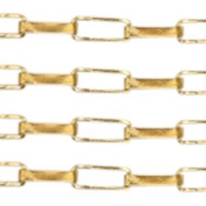 Stainless steel jasseron schakel 8x3mm goud per 20cm