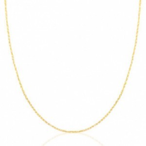 Stainless steel ketting goud 60cm