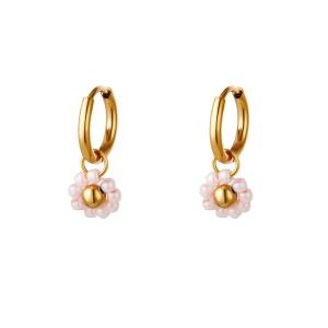 stainless-steel-oorbellen-creolen-beaded-flower-pink-11mm-goud