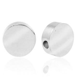 Stainless steel (roestvrij staal) RVS kraal rond 8mm zilver