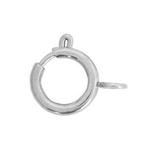 Slotje rond stainless steel 10x12mm zilver (per stuk)
