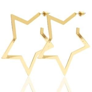 Statement ster oorringen goud 58x55mm nikkelvrij metaal (per paar)