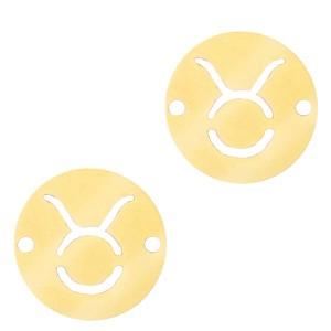 bedel-tussenzetsel-sterrenbeeld-stier-goud-stainless-steel-12mm